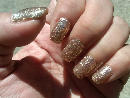 Shellac dipped in Gold Glitter | Yelp