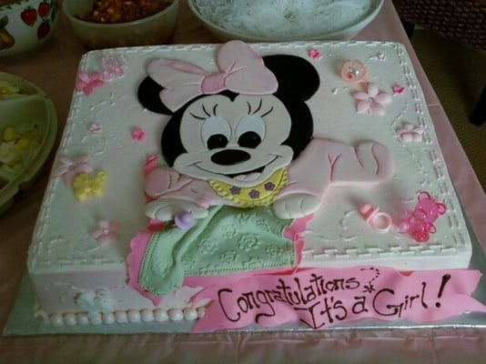 minnie mouse baby shower cakes