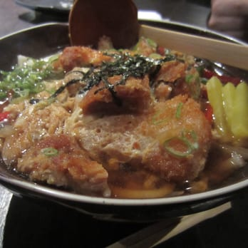 Tokatsu ramen (yep...I said Tonkatsu, not Tonkotsu!) This was interesting...kind of half way between katsudon and ramen!!