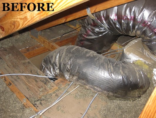 leaky duct chase caused mold in bathroom and linen closet. Black Bedroom Furniture Sets. Home Design Ideas
