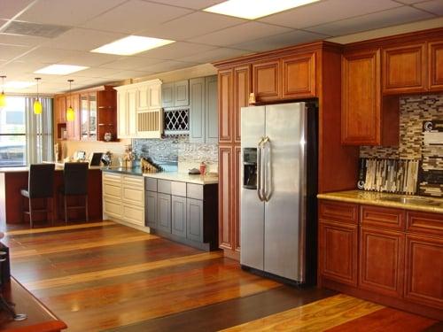 showroom cabinet and granite countertop Yelp
