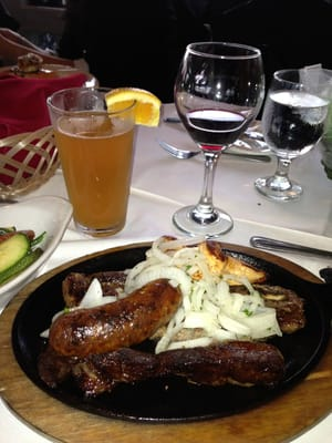 Parillada Argentina - grilled ny strip steak, short ribs, skirt steak ...