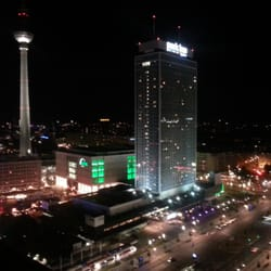 Amazing view over the city @sky bar Berlin