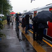 A rainy Kew Gardens Station