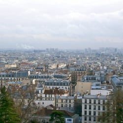 The view of Paris from just outside the Sacré Coeur