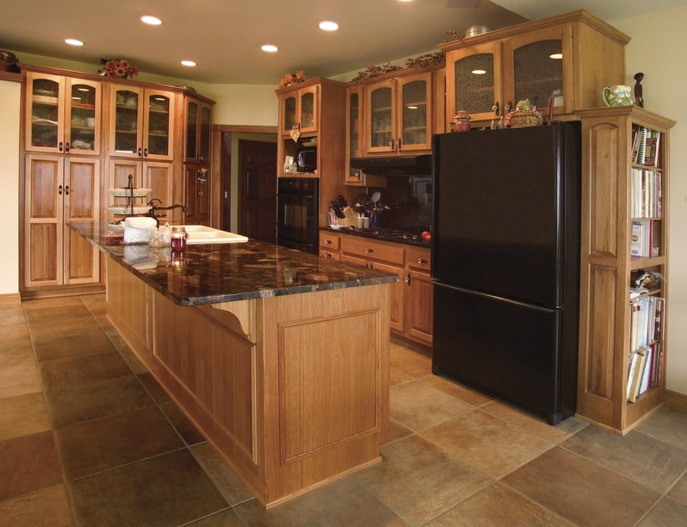 Hickory Cabinets With Granite Countertops Yelp
