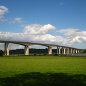 View of the Orwell Bridge from the Suffolk Food Hall