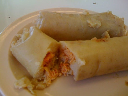 Tamales de pollo - chicken tamales, includes potatoes | Yelp
