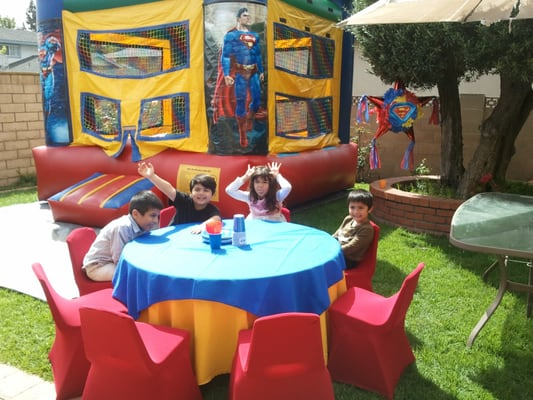 Kids Birthday Table Decoration Ideas Photograph Superman T