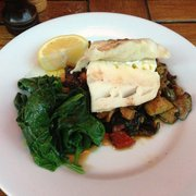 Cod with roasted vegetables