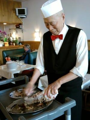 Chef Wang at China Wok, Tyson Corner, Va