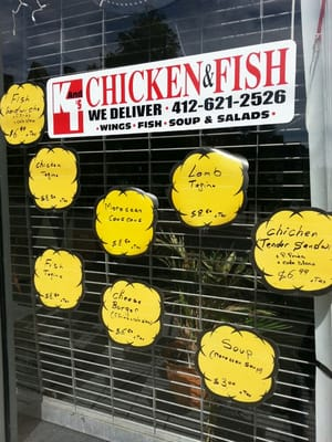 for Pittsburgh fish and chicken