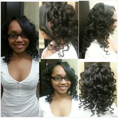 Wand Curls On Brazilian Hair Wand curls done by me
