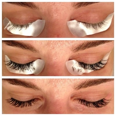 Before and after faux mink dark brown lashes - Yelp