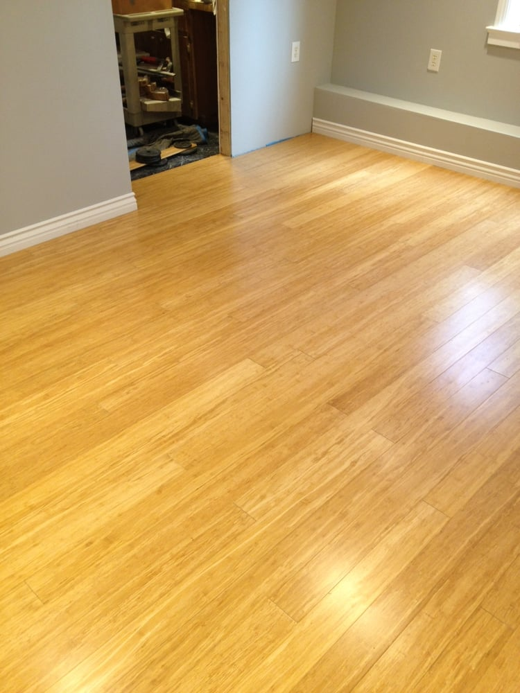 Bamboo hardwood floors 11 39 x18 39 w cork underlayment for Wood floor underlayment