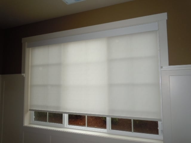 Roller Shade With Wood Valance Yelp