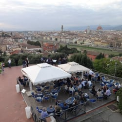 View from Piazzale Michelangelo right before sunset