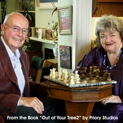 Maeve Binchy & Gordon Snell from the book Out of Your Tree 2 by Priory Studios, Dublin, for The Irish Cancer Society