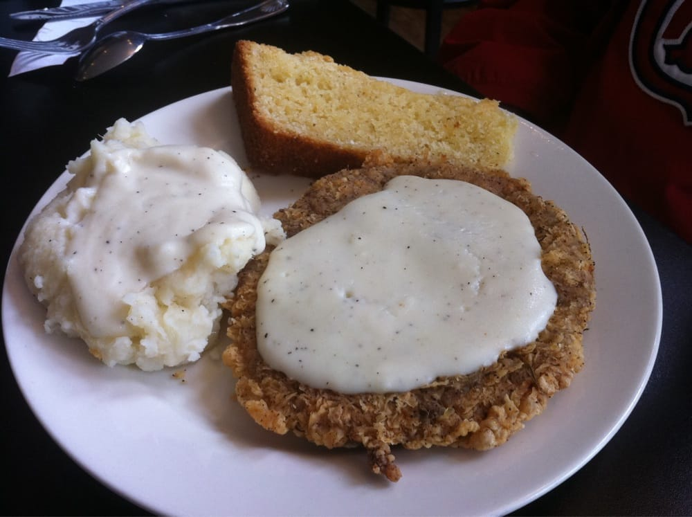 Chicken Fried Steak with Mash Potatoes & White Gravy | Yelp