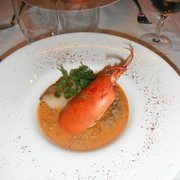 Lobster with scallop risotto