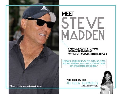 meet Steve Madden at Galleria Dallas