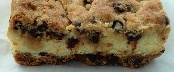 Chocolate chip cookie dough cheesecake from Flour Child Bakery