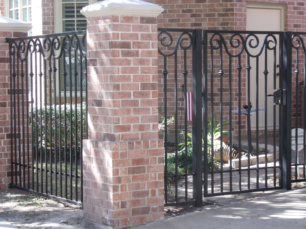 Scroll Gates And Brick Columns Yelp