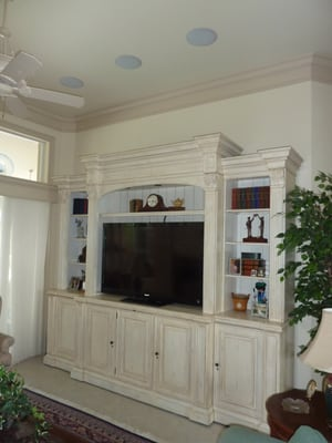 Custom Tv Cabinet With 60 Quot Sony And 5 1 Surround Sound