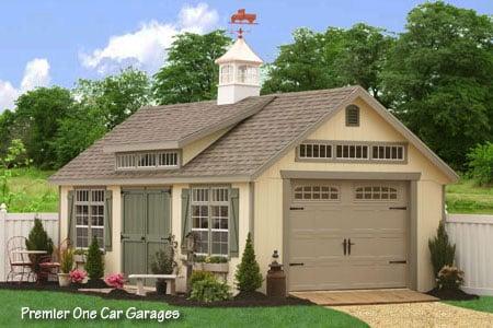 14x24 Premier Garden Garage From The Amish Mennonite