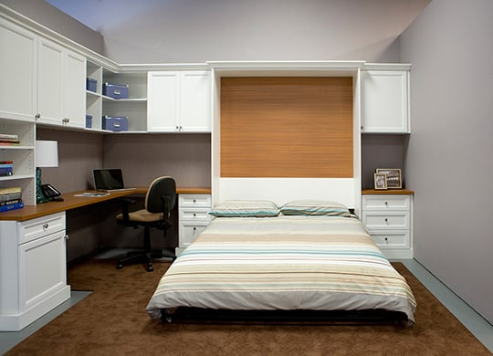 Combination Home workplace - guest room with pull down wall bed ... - Combination Home Office And Guest Room