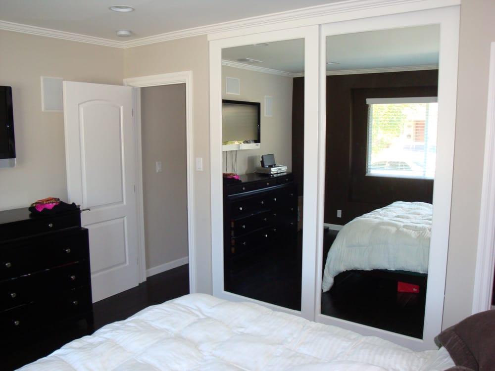 Wood Frame Mirrored Closet Doors Yelp