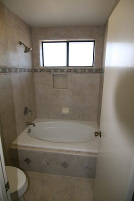 New Drop In Tub Shower Fixtures Amp Custom Tile Work Yelp