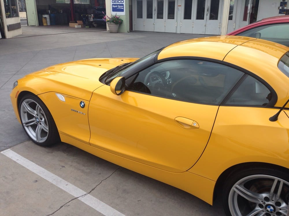 they repaired my 2011 yellow bmw z4 35is excellent paint. Black Bedroom Furniture Sets. Home Design Ideas