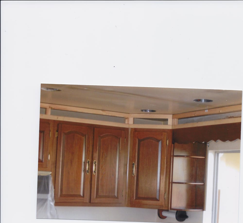 What Is A Kitchen Soffit And Can I Remove It: Kitchen Ceiling Soffit ( Before Picture) We Framed Opening