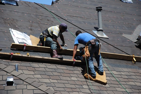 Installing Tucson Sunset Shingles On A Steep Roof In