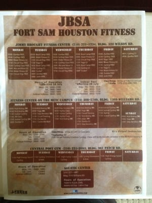 Fort Sam Houston Jimmy Brought Fitness Center Gyms San