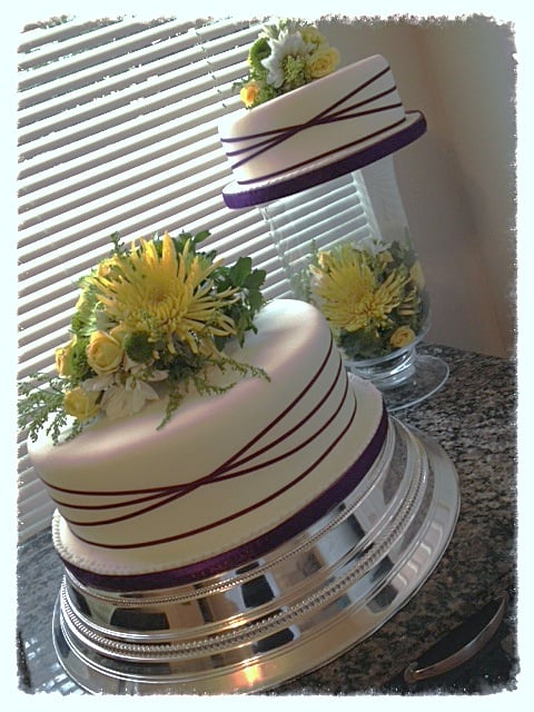 5 separate wedding cakes two separate tier wedding cake decorated and topped 10450