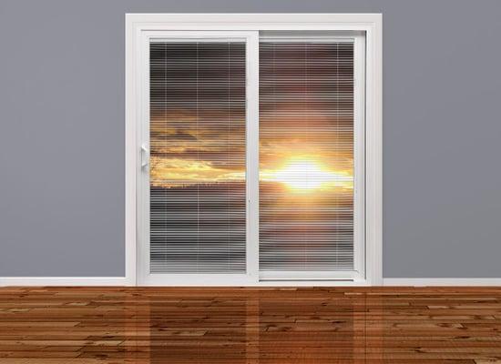 Milgard Tuscany Sliding Glass Door Amp Blinds Yelp