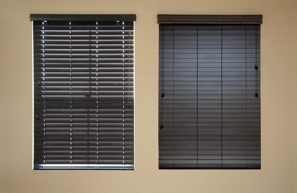 Wood Stained Blinds With Routless Feature Yelp