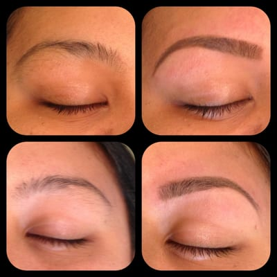 before and after brow waxing | Yelp