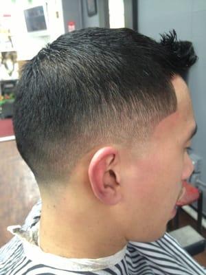 Low fade w Skin Tape Up Cut by J Nice aka Jigga