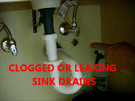 Clogged Sink Leaking Sink Drain Replace P Trap Sink