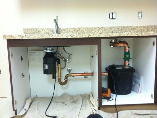 Under Sink Discharge Pump System When A Drain Is Not