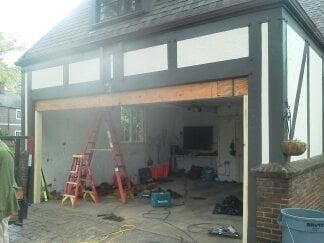 Garage Door Header Replacement On Historical Home Due To