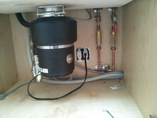 Under Kitchen Sink Garbage Disposal And Trap Primers For
