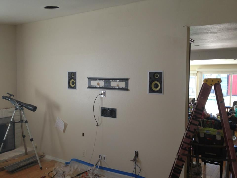Tv Installation With In Wall Speakers Yelp