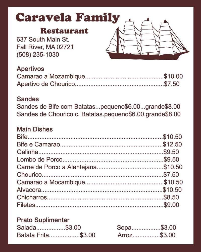 menu in portuguese yelp