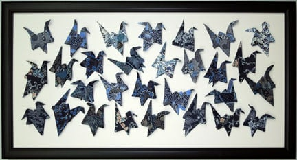 A Shadowbox Frame Presentation For The Oragami Cranes A