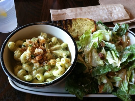 Pasta Salad Combo Pesto Cavatappi And Caesar Yelp