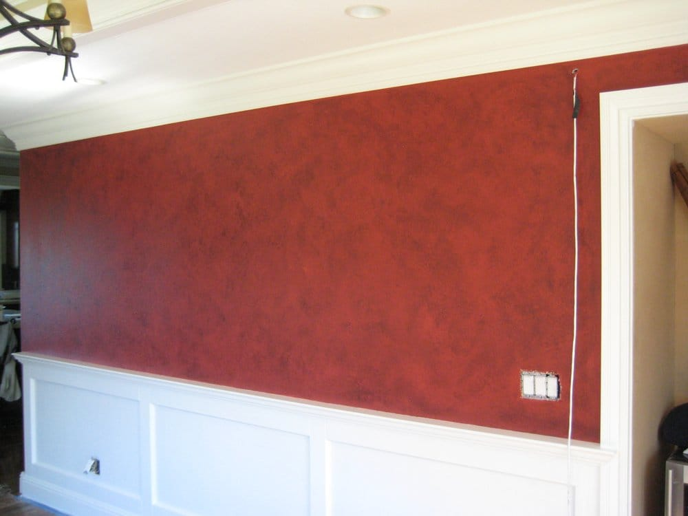 Red Leather Faux Finished Walls Yelp